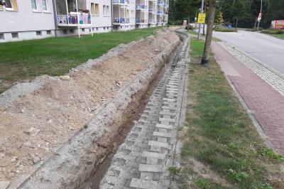 Foto zur Meldung: K.-Marx-Straße: Behinderung wegen Bauarbeiten