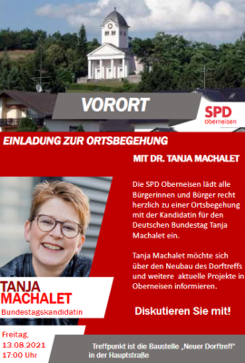 Einladung zur Ortsbegehung mit Tanja Machalet