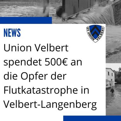 Union spendet für Flutopfer Langenberg