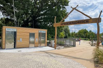 """Foto zur Meldung: Fertigstellung der WC-Anlage am Spielplatz """"Spreewaldreich"""""""