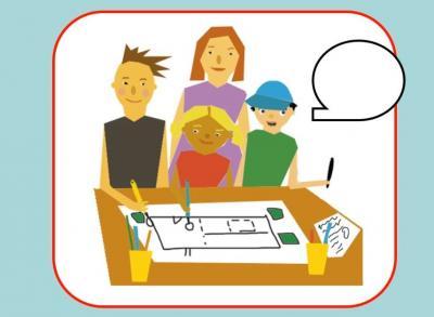 Bei der Kinder- und Jugendbeteiligung gibt es verschiedene Formen - zum Beispiel die Mitwirkung an Entscheidungsprozessen. Grafik: Karen Ascher