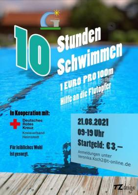 Plakat 10-Stunden-Schwimmen