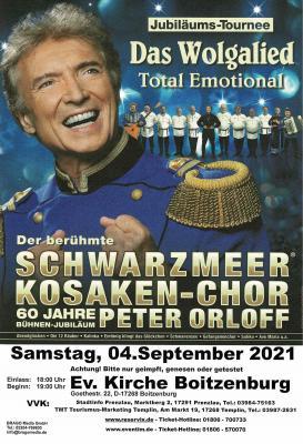 Konzert Schwarzmeeer Kosaken-Chor Peter Orloff