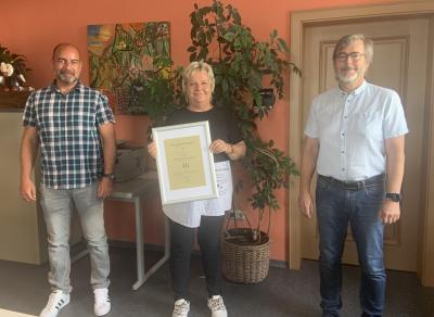 Gemeinde Röslau: 40-jähriges Dienstjubiläum von Frau Petra Herrmann