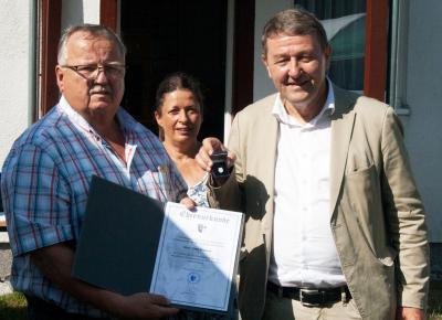 Auszeichnung Uwe Richerts mit der Rangsdorfer Ehrennadel