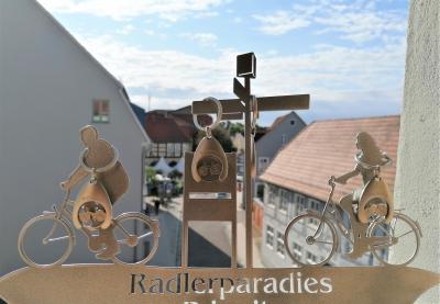 Foto zur Meldung: Schlüsselanhänger im schicken Radlerdesign