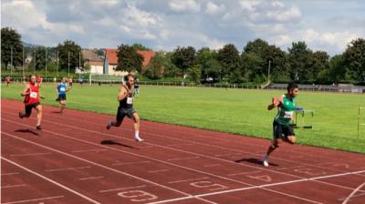 Zieleinlauf 100 m