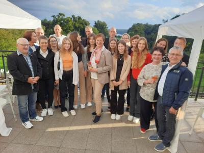 Das Foto zeigt die Mitglieder des SC Laage und ihre Gastgeberin an diesem Abend, Frau Kerstin Patzewitz. Foto: SC Laage