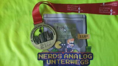 Nerds auch beim Halbmarathon analog unterwegs