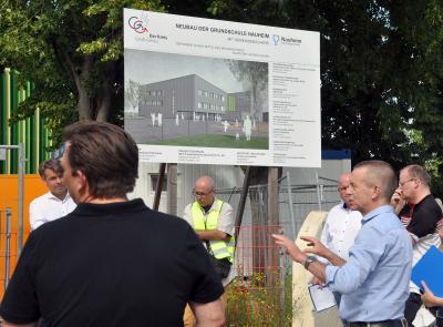 Foto zur Meldung: Baufortschritt an Grundschule