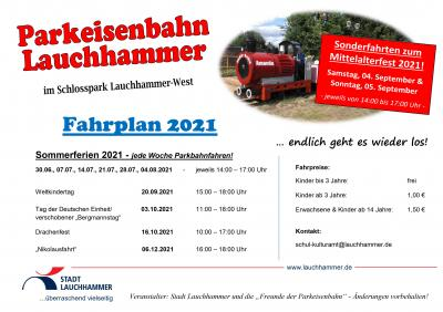 Foto zur Meldung: Sonderfahrten der Parkeisenbahn in Lauchhammer