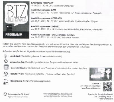 Informationen zur Berufsberatung