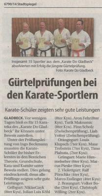 Gürtelprüfungen bei den Karate-Sportlern
