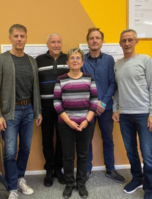 v.l.n.r.: Frank, Arno, Marlies, Thomas, Andreas