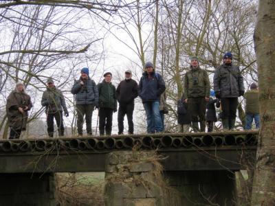 Auf der Lindey-Brücke, Brutplatz der Wasseramsel. Foto: H.B. Hartmann (21.03.2021)