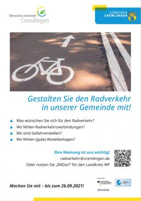 Radfahrerinnen und Radfahrer aufgepasst! Die Bürgerbeteiligung zum Radverkehrskonzept beginnt