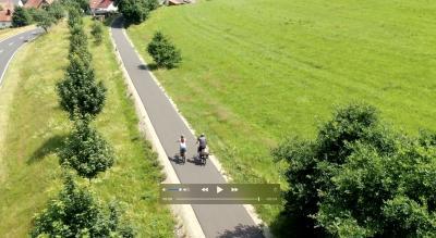 "Screenshot aus dem Film ""Rhönexpress Bahn-Radweg"