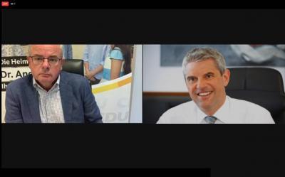 Dr. Andreas Nick (MdB) (li.) und KHDS-Geschäftsführer Guido Wernert (re.)