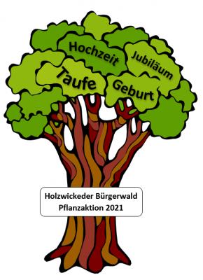 Foto zur Meldung: Pflanzaktion 2021 im Holzwickeder Bürgerwald