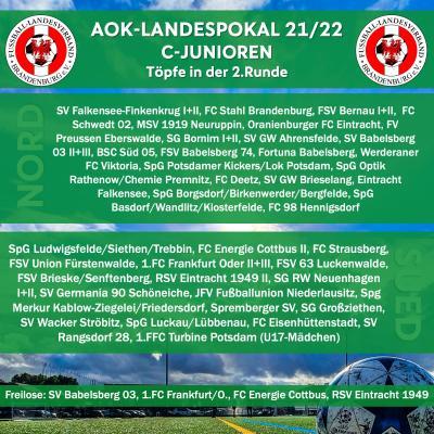 C-Junioren-Landespokal-Auslosung der 2.Runde
