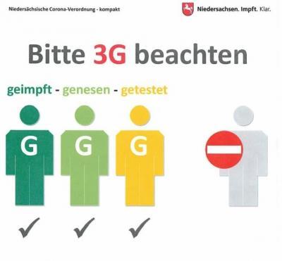 Bitte 3G beachten.