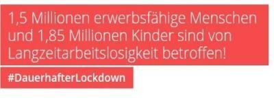 #DauerhafterLockdown Wir fordern die Einrichtung von Sozialen Betrieben für eine dauerhafte Beschäftigung von langzeitarbeitslosen Menschen!