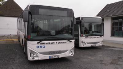 Foto zur Meldung: 4 neue Busse im Stadtverkehr Lauchhammer