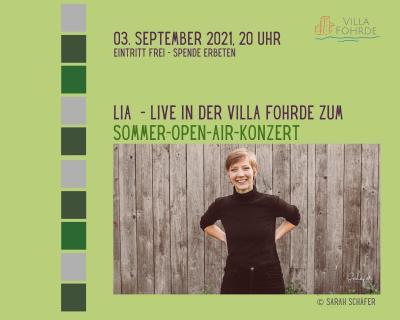 Foto zur Meldung: Open-Air-Konzert von LIA am Freitag, 3. September