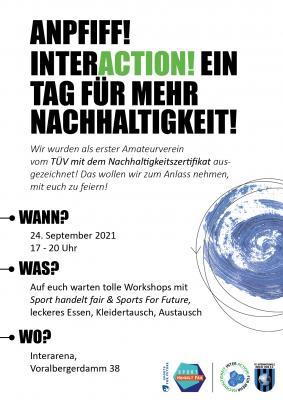 Save the date: Nachhaltigkeitstag am 24.09.2021 in der Inter-Arena