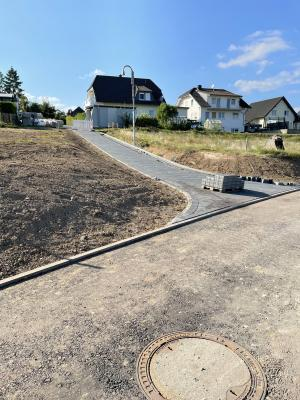 Fußweg vom Eichberg zum Neubaugebiet fast fertig