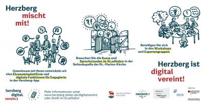 Es wird praktisch - Herzberg digital.verein.t geht in die Workshops!