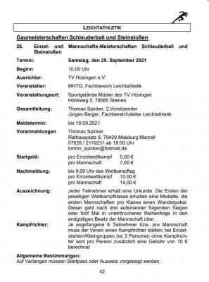Gaumeisterschaft Schleuderball und Steinstoßen