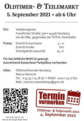Oldtimer- & Teilemarkt am 05.09.2021