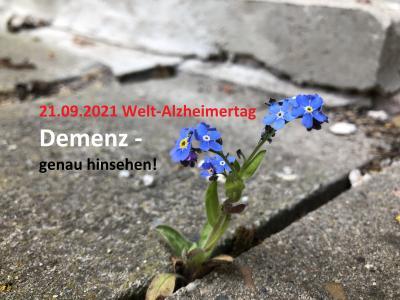Welt-Alzheimertag am 21. September 2021: Demenz – genau hinsehen!
