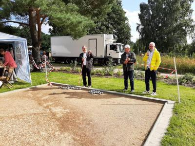 Boccia-Platz-Einweihung mit Spielplatzfest