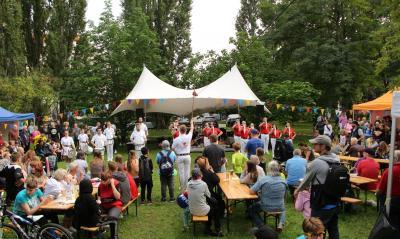 Sportfest für Alle im Wohngebiet Am Schlaatz
