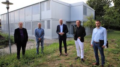Acht zusätzliche Klassenzimmer: Zusmarshauser Realschule erhält zweistöckigen Containeranbau