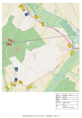 Sperrung Bahnübergang zwischen Rustow und Toitz vom 18.09. bis 24.09.2021