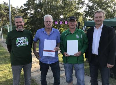 V.L. Reyk Schulz, Thomas Schulz, Jens Bornfleth und Friedhelm Ostendorf