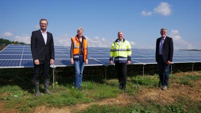N-ERGIE nimmt Solarkraftwerk in Rottendorf in Betrieb