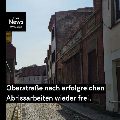 Oberstraße ist wieder frei