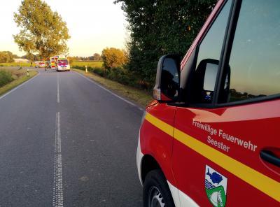 Einsatz: Verkehrsunfall auf der L109