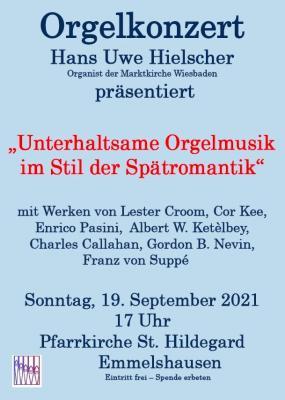 Konzert am 19.09.2021 in der Pfarrkirche St. Hildegard Emmelshausen