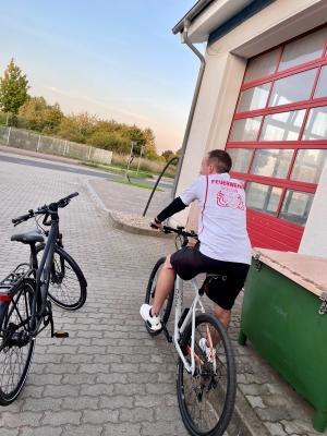 """Feuerwehrdienstsport im Rahmen der Initiative """"Stadtradeln"""""""