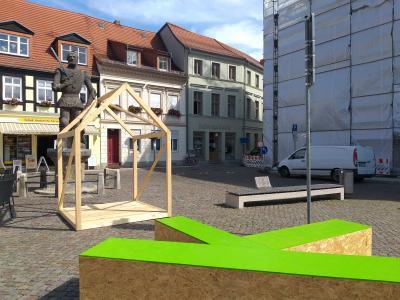 Stadt Perleberg | Warum liegen große grüne Ks mitten in Wittenberge und Perleberg?