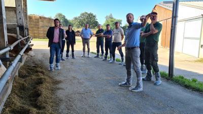 Landratsbesuch Elbe-Elster in der Agrofarm Goßmar