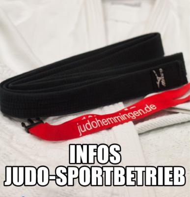 Infos Judo-Sportbetrieb SC