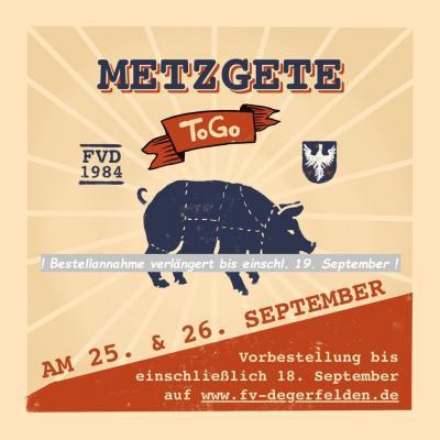 """Bestellannahme für Metzgete """"to go"""" bis einschl. So. 19. September verlängert!"""