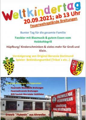 Plakat Benefizveranstaltung zum Weltkindertag