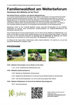 10 Jahre UNESCO-Welterbe - Familienwaldfest